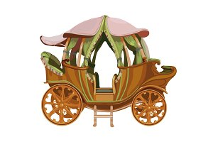 Cartoon carriage of Princess