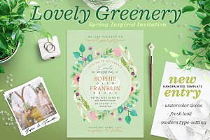 Lovely Greenery Wedding Card III