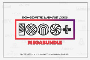 1000+ Geometric Logo Marks Bundle