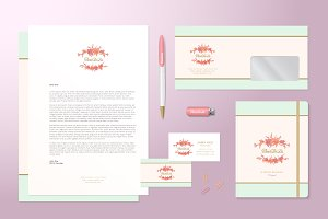 Lilies Logo and Stationary Template