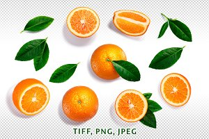 Oranges from above