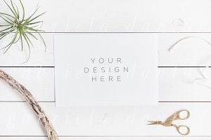 Styled Stock A5 Card Mockup
