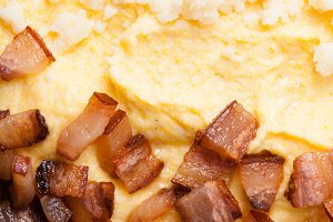 Polenta with bacon
