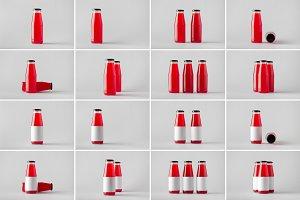 Juice Bottle Mock-Up Photo Bundle 4