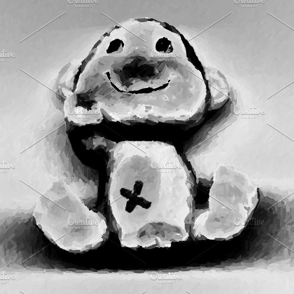 Teddy Waving Smiling