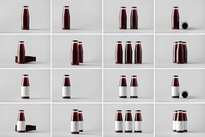 Juice Bottle Mock-Up Photo Bundle 5