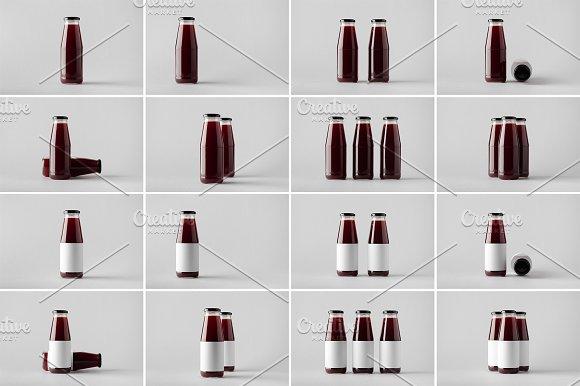 Juice Bottle Mock-Up Photo Bundle 5