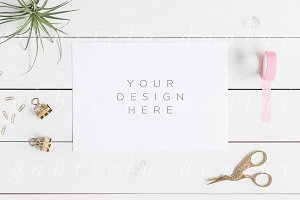 Invitation styled mockup stock photo