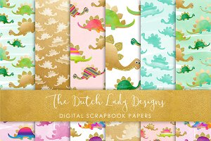 Dinosaur Patterned Papers