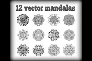 12 vector mandalas