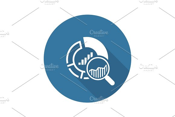Small Data Icon Flat Design