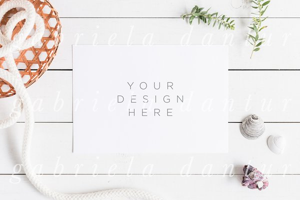 Beach Stock Photography Mockup Shel…