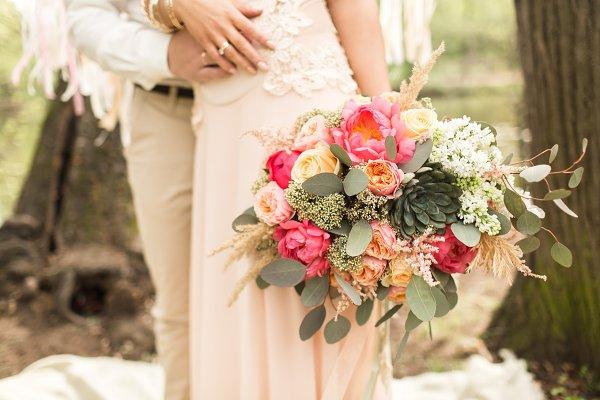 Wedding decoration on boho style