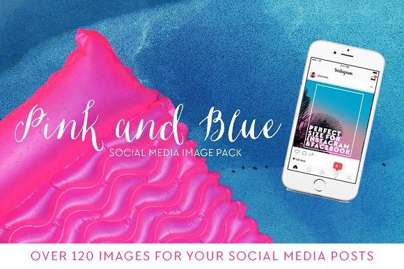 Pink Blue Insta Lifestyle Set