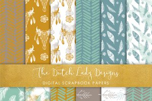 Bohemian Papers Watercolor Pattern