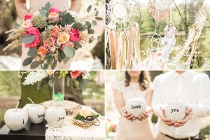 Wedding decor on boho style
