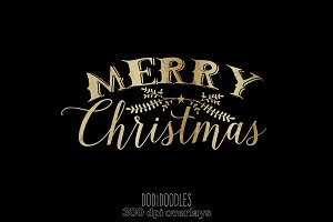 Gold Christmas Photoshop Overlays