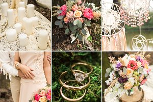Wedding decoration on boho style