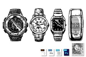 Set of men's wristwatches