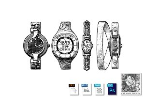 Set of women's watches