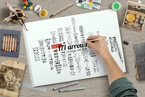 171vector arrows in hand drawn style