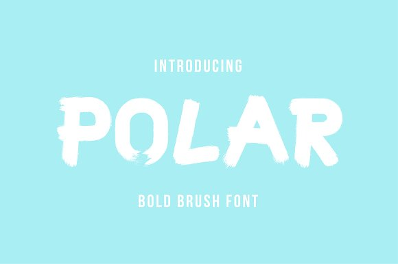 Polar Typeface Brush Font