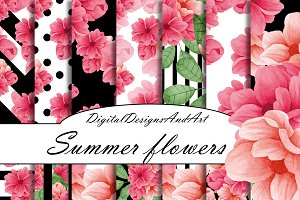Summer floawers paper pack
