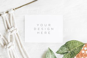 Macrame Styled Stock Photo Mockup