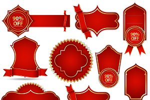 Vector Banners in Royal Red