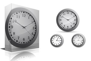 Clock Vectors, PNG & Brushes