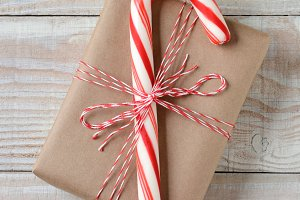 Large Candy Cane Small Present