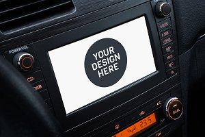 Car screen mockup