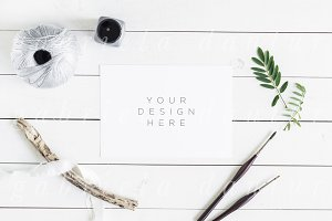 Brush Lettering Styled Stock Mockup