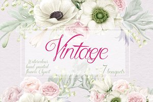 Vintage Collection, Anemones & Roses