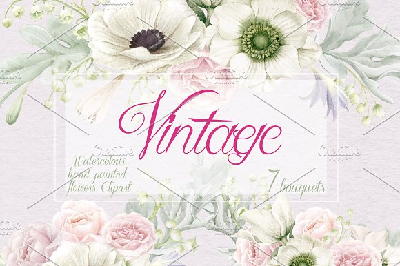 Vintage Collection Anemones Roses