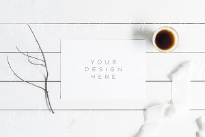 Simple Coffee Styled Stock Mockup