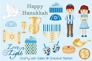 Hanukkah Digital Clipart Set