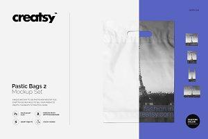 Plastic Bags 2 Mockup Set