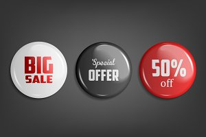 Sale Badges. 3 Colors