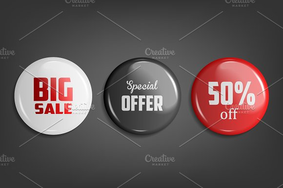 Sale Badges 3 Colors