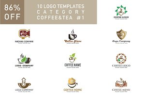 10 Logo Set - Coffee & Tea