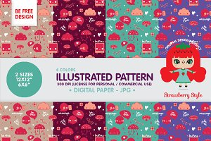 "Illutrated Pattern ""Be Free"" kit"
