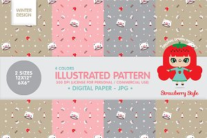"Illustrated Pattern ""Winter"" kit"