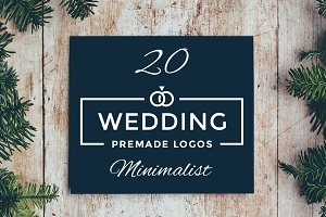 20 Minimalist Wedding Logos Vol1