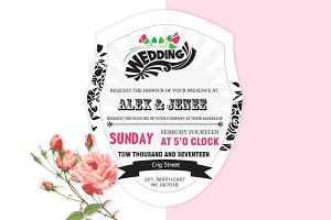 Curve Wedding Invitation Card