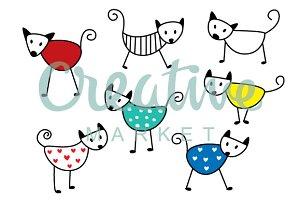 Cute Kitten Wallpaper Vector