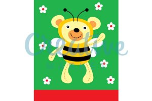 Cute Honey Bee Teddy Bear