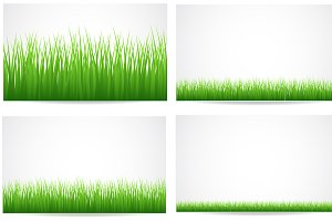 Grassline Vectors, PNG & Brushes