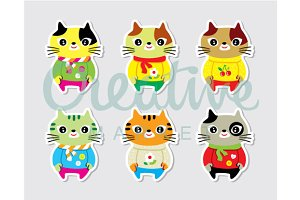 Cute Kitten Cartoon Vector