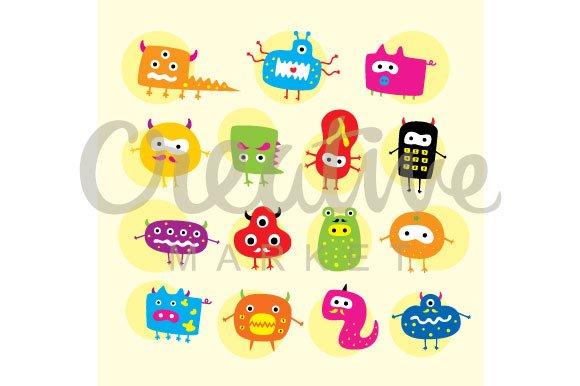 Cute Monsters Vector